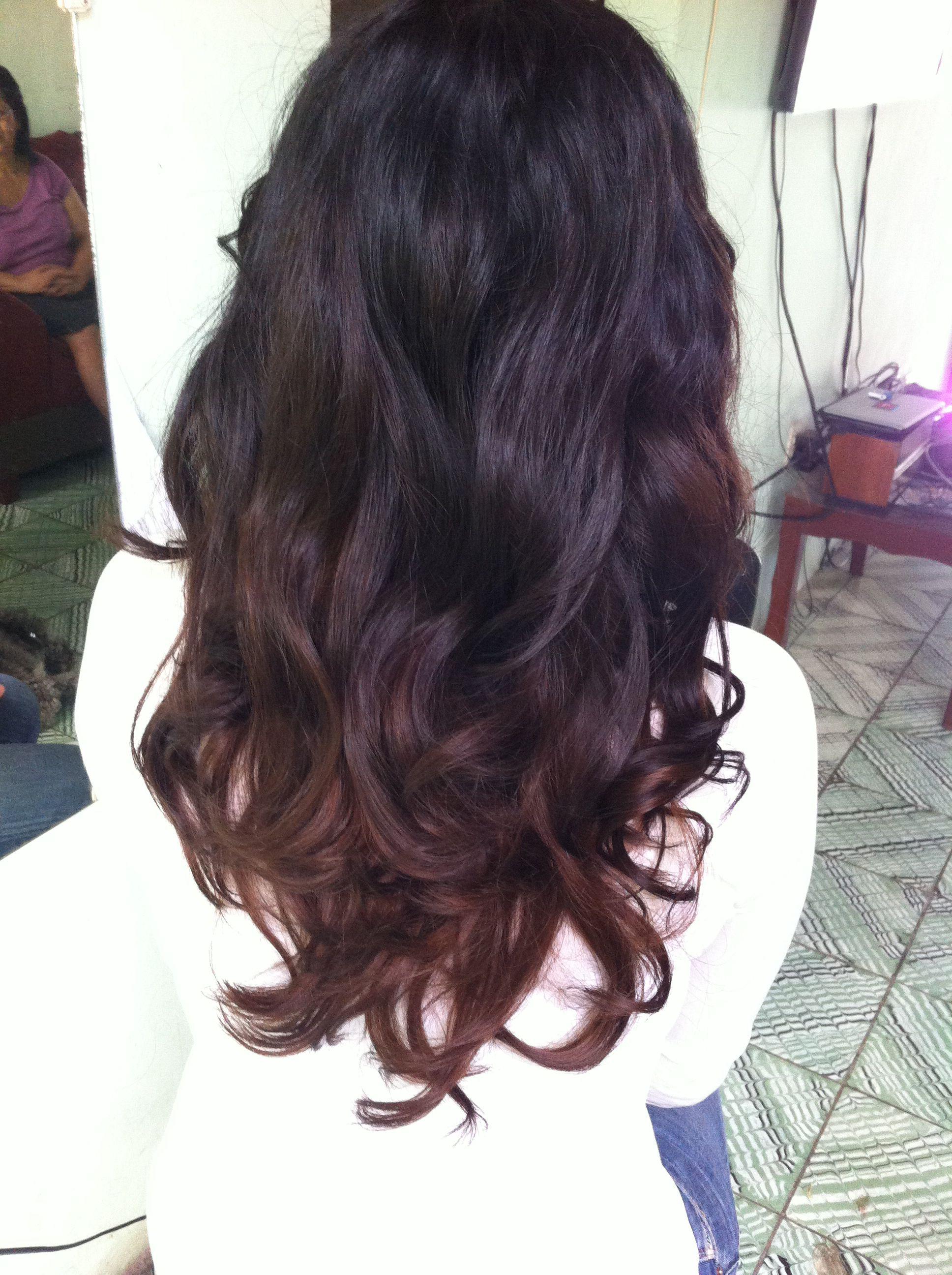 Black hair brown highlights hair pinterest brown highlights