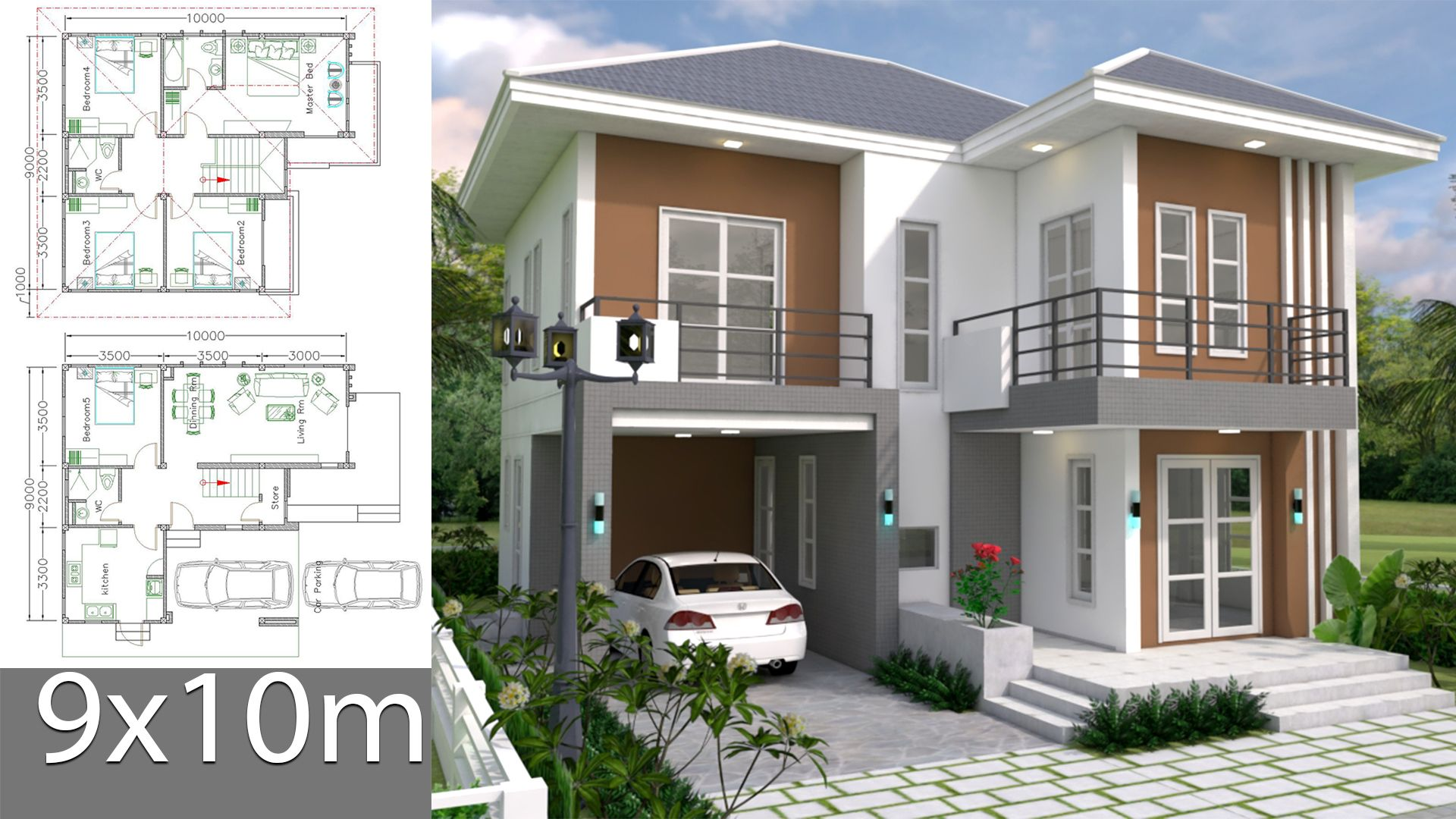 Welcome To Samphoas House Plans Fan Favorites 1m Views Top Free House Plans Architectural House Plans Small House Design Plans Model House Plan