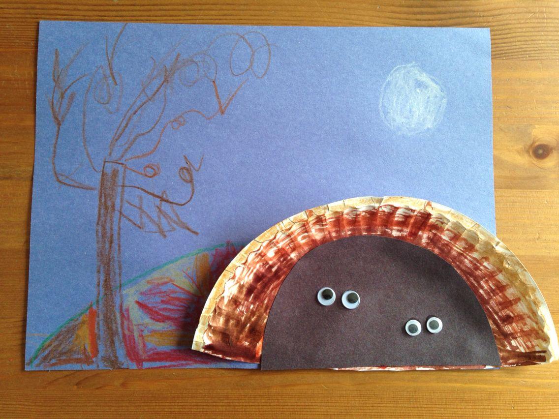 Cave craft kindergarten craft hibernation craft kids for Hibernation crafts for kids