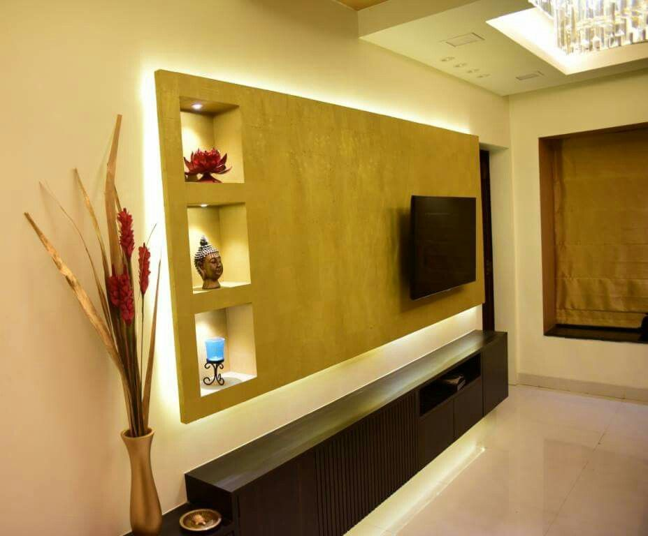 A Simple Tv Unit With Niches Residence By Namah In 2019