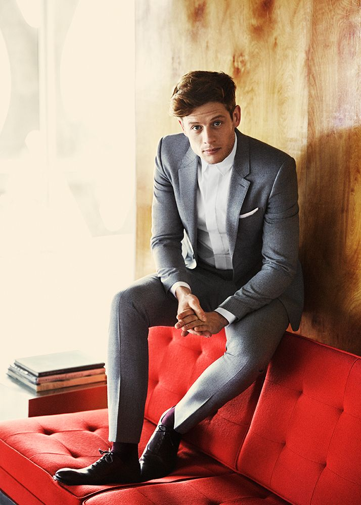 James Norton is Dapper in Slim Suit for Vogue February 2015 Feature