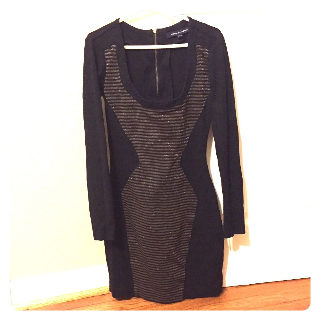 French connection black and gold dress products