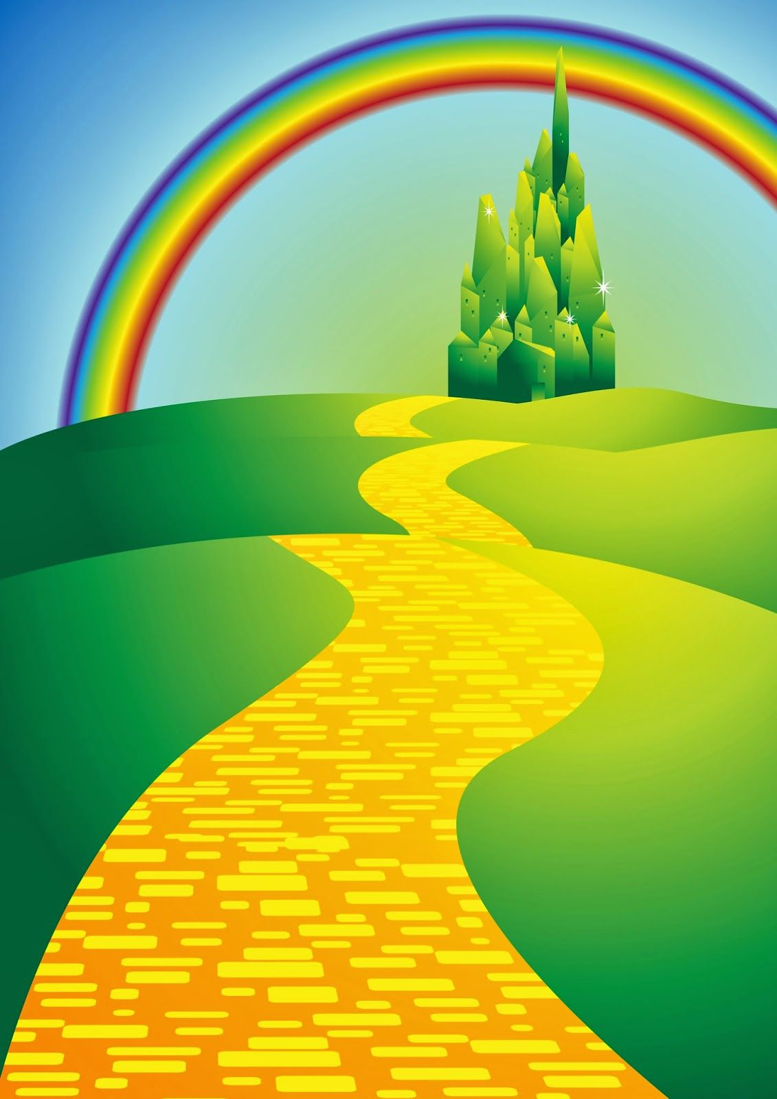 wizard of oz yellow brick road we re off to see the wizard wizard rh pinterest com yellow brick road clipart free yellow brick road clipart black and white