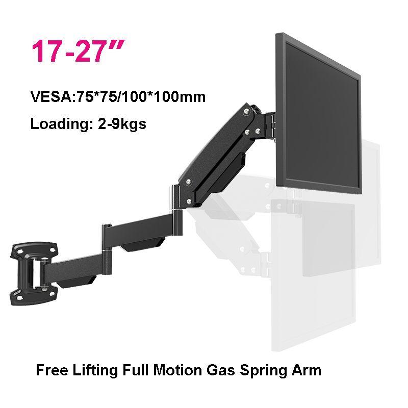 17 27 Ultra Long Lg312b Gas Spring Arm Wall Mount Monitor Holder Full Motion Heavy Duty Lcd Tv Mount Bra Wall Mounted Tv Tv Wall Wall Mount Monitors