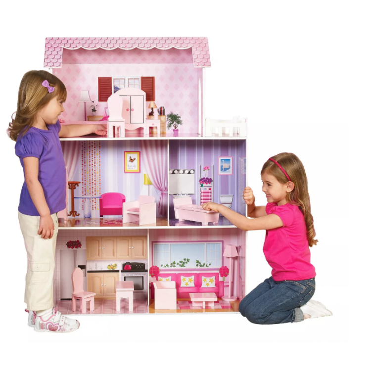 Fancy Mansion Wooden Doll House Wooden Dollhouse Wooden Dolls Mansion Dollhouse