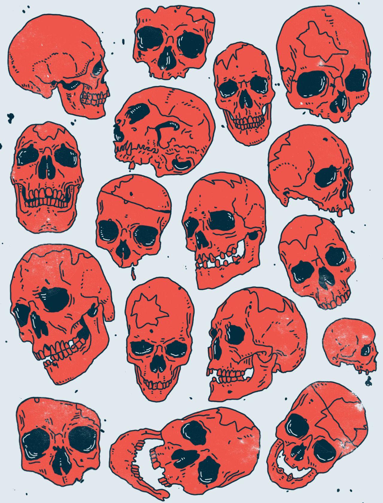 Vintage Halloween Skulls For Neotraditional Tattoos Con Imagenes Ilustracion De Calavera Craneo Dibujo Craneos Y Calaveras