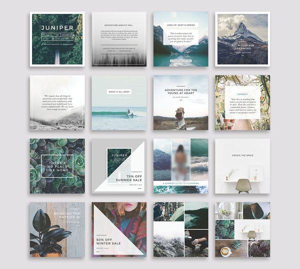 Mini Square Business Card PSD Templates | Design |...