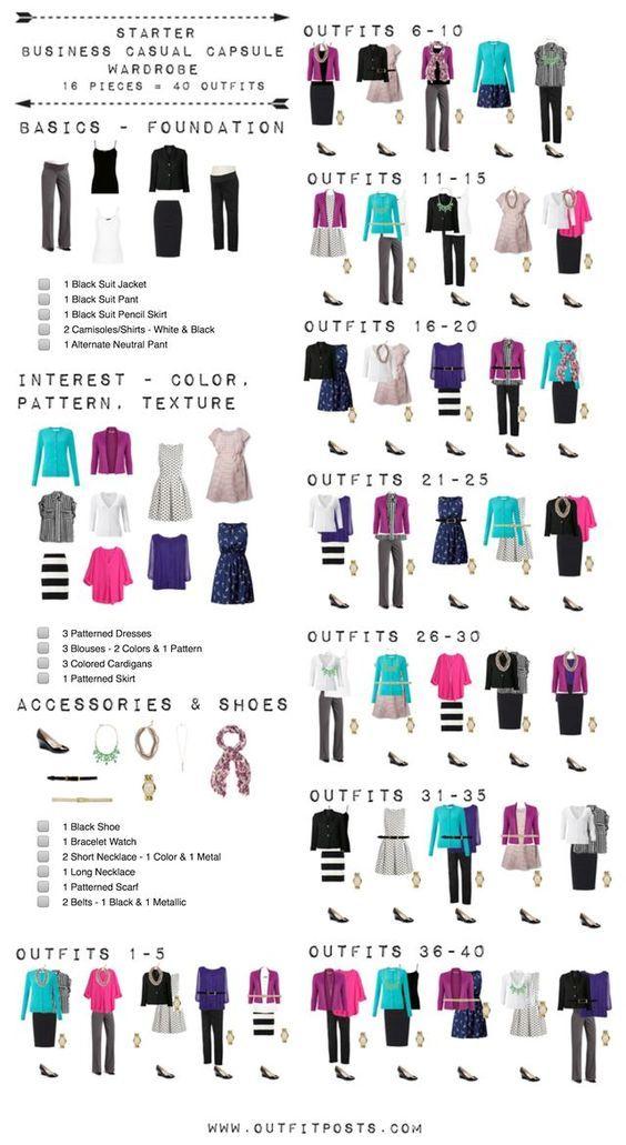 Starter business casual capsule wardrobe checklist outfit posts starter business casual capsule wardrobe checklist via bloglovin fandeluxe Choice Image