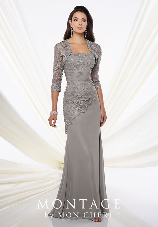 865dc75ce5d Montage by Mon Cheri 116944 Grey Mother Of The Bride Dress