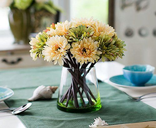 REAL TOUCH artificial flowers - Gerbera 6 stems - 11 colours available: Amazon.co.uk: Garden & Outdoors