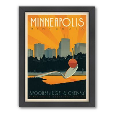 Art Soul Of America Minneapolis Framed Wall Art By Anderson Design Group Retro Wall Art Anderson Design Group Wall Art Prints