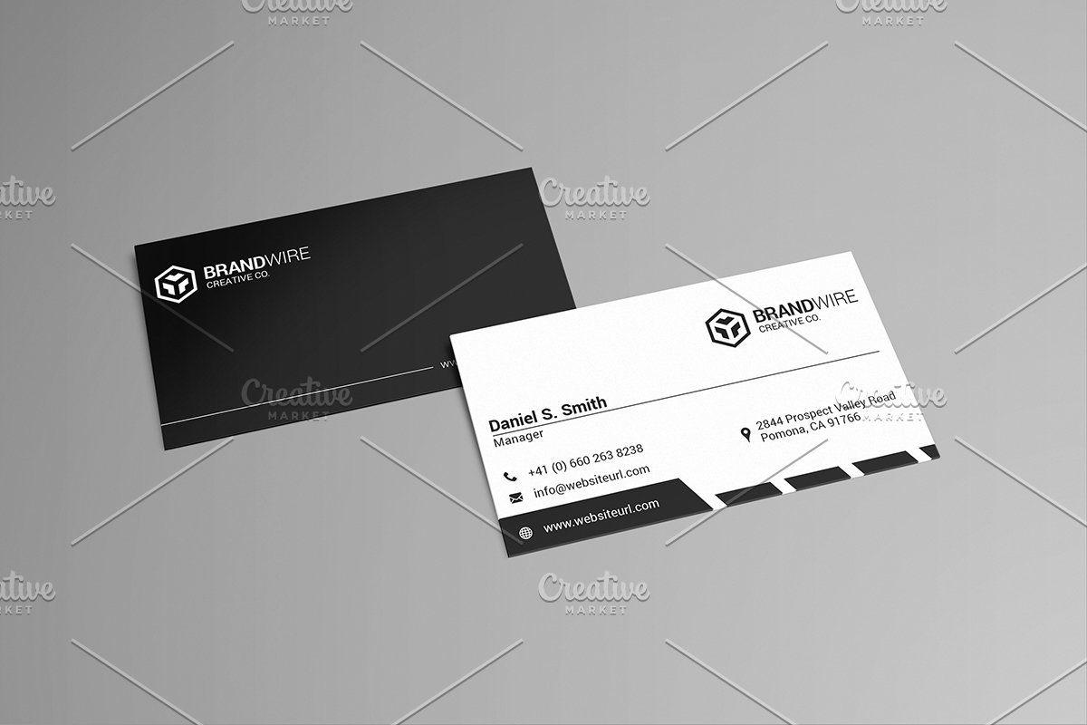 Simple Black White Business Card Affiliate Designed