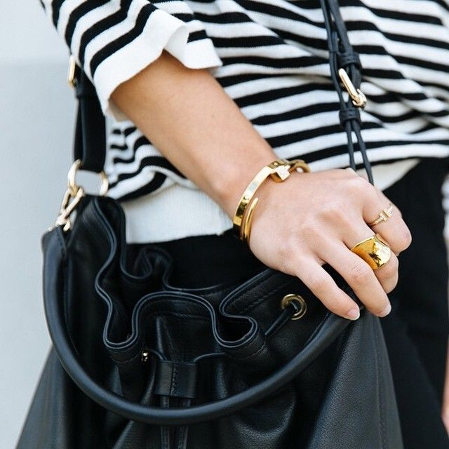 My black bucket bag, all I need this month! #minskatdana #bucketbag #soft #black #leather #bag #handbag #fashion #instastyle #instabloggers @thefashannmonster #streetstyle #casual #bretonstripes #stripes #summer #sunshine #gold #danishdesign #minimalism #fashioninspo #itbag #minskatcopenhagen