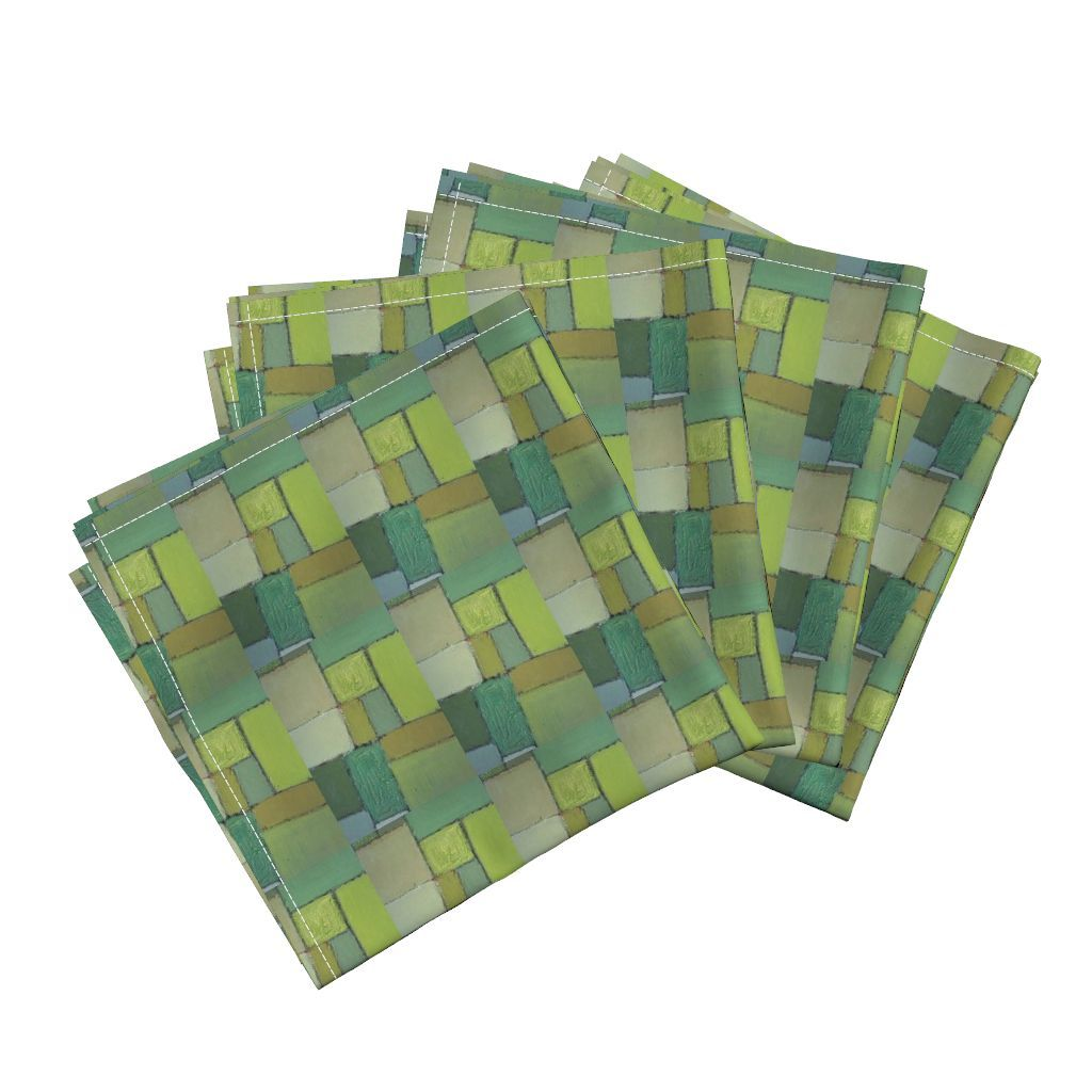 Amarela Dinner Napkins featuring shadesofgreen by jack@spoonflower | Roostery Home Decor