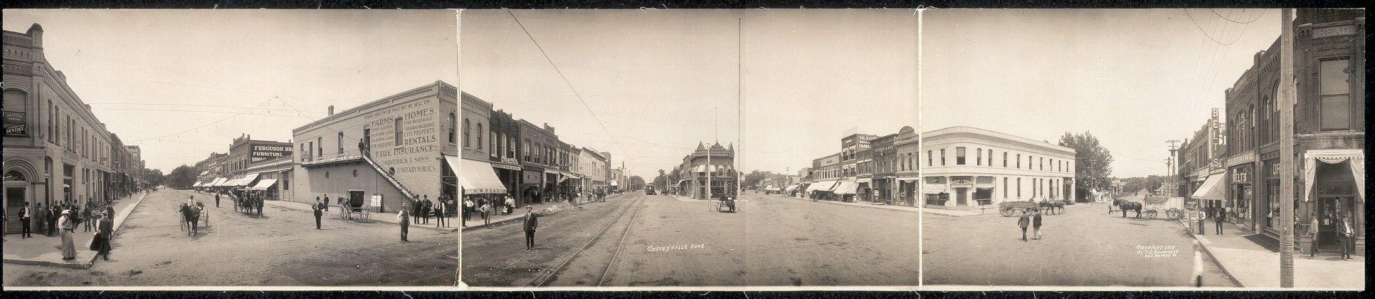 Coffeyville Kans 1909 State Of Kansas Land Of Oz Wild West Theme