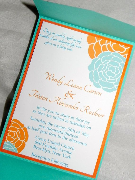 orange and turquoise wedding invitations. orange turquoise wedding and invitations pinterest