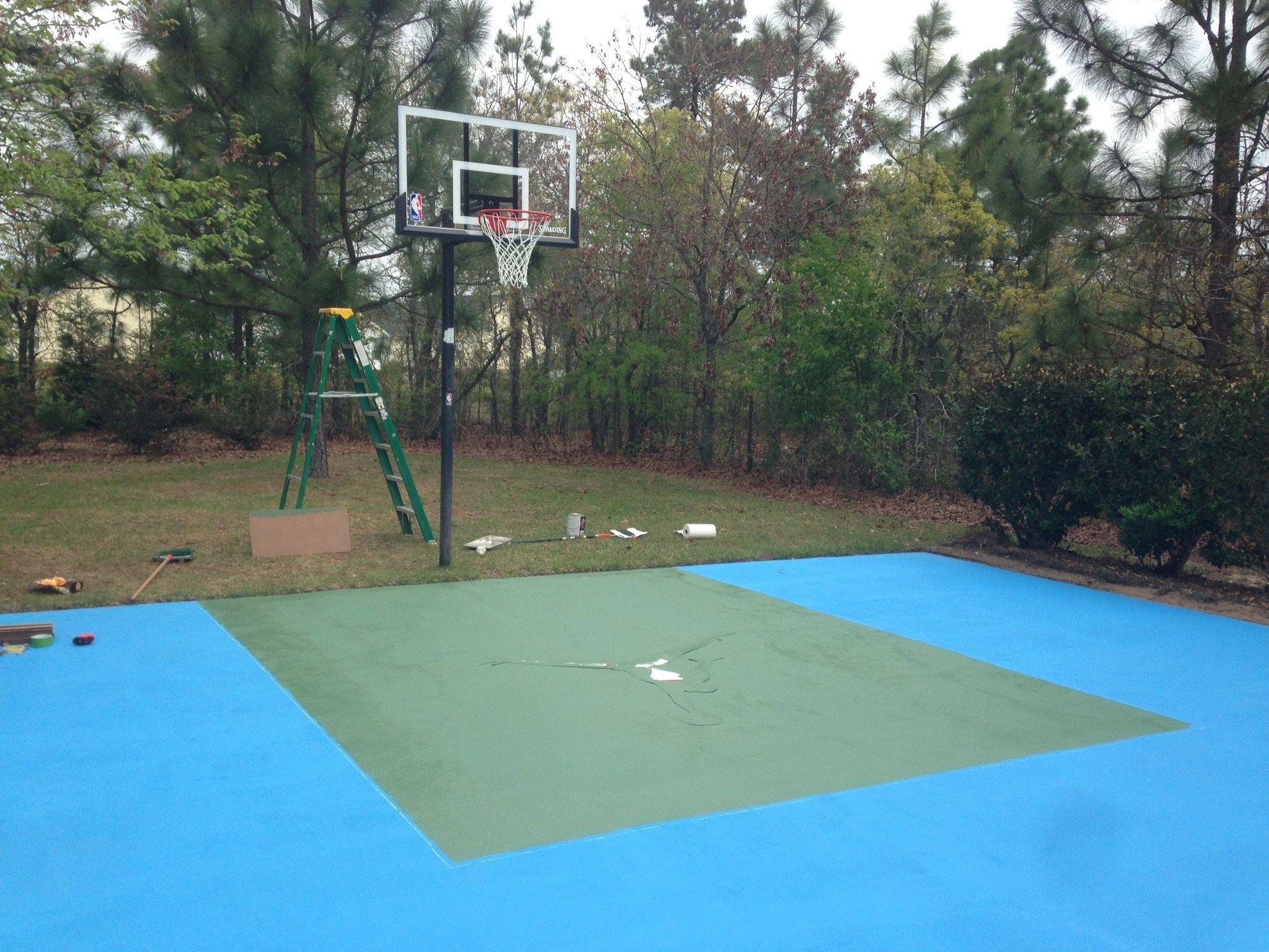 DIY basketball court   Outdoor basketball court ...