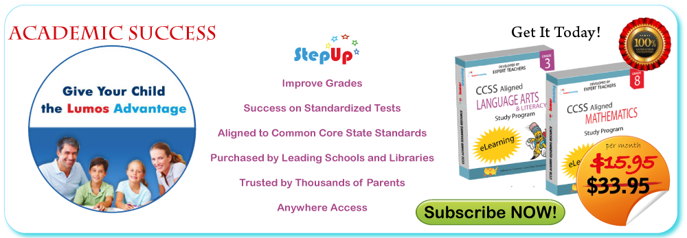 Academic Success through Lumos StepUp™. Give your Child the Lumos Advantage!  Limited period offer for parents on Lumos StepUp™ subscription!
