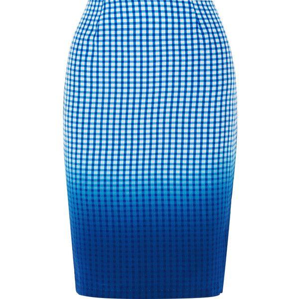 Bailey 44 Astley printed dégradé silk skirt ($125) ❤ liked on Polyvore featuring skirts, blue, bailey 44, stretch skirt, blue silk skirt, silk skirt and multi color skirt