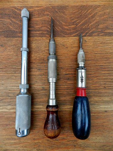 Yankee Style Screwdrivers And Push Drill Old Tools Vintage Tools Antique Tools