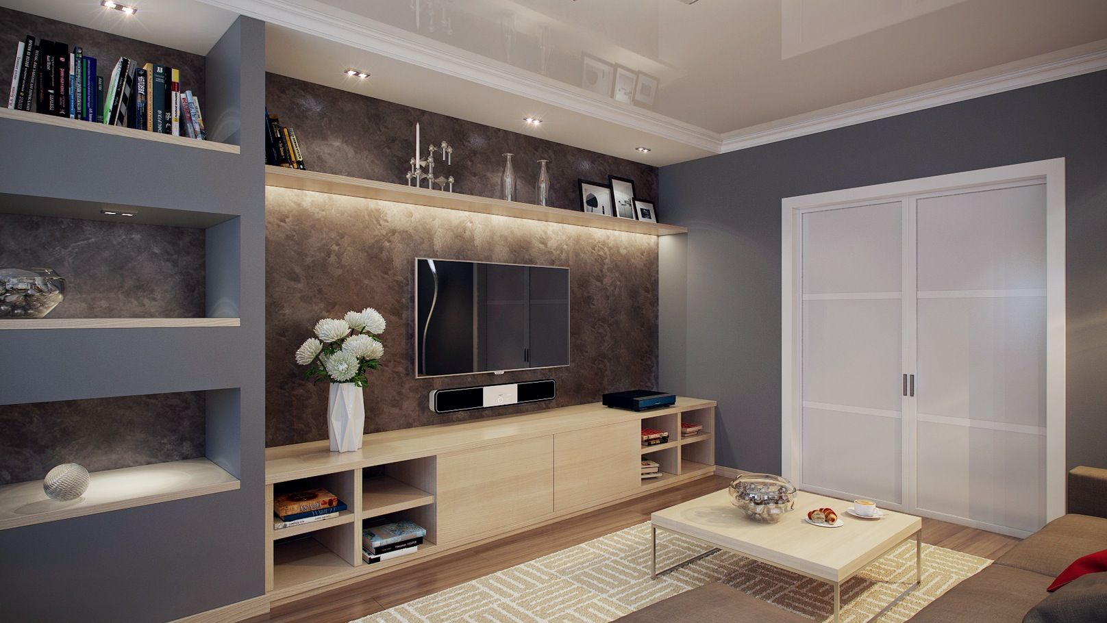 Built in Wall Unit Designs | modern built in wall shelving ...