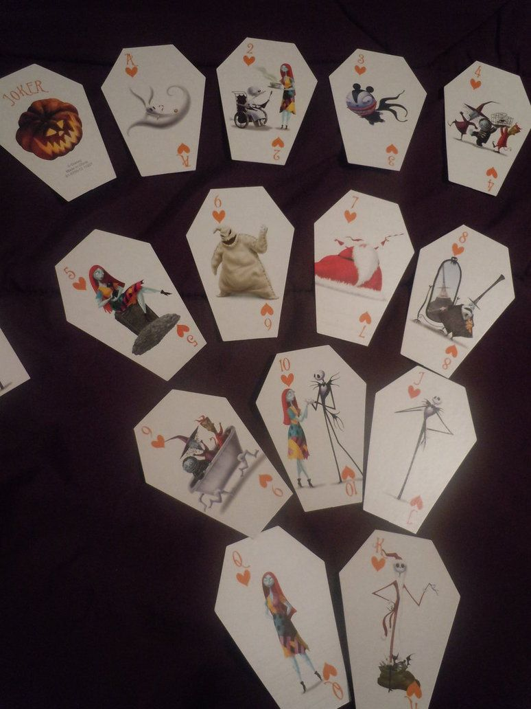 The Nightmare Before Christmas playing cards | The Nightmare Before ...