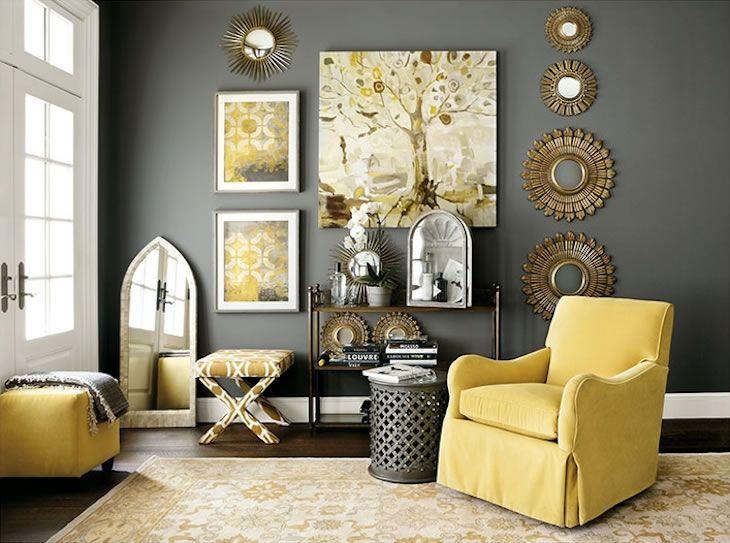 Contrastes De Gris Y Amarillo 03 Ideas Para Mi Casa