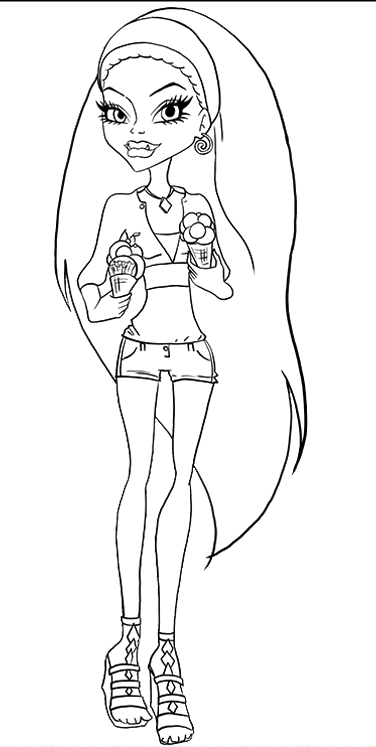 Pin By Elsie Poser On Kids Cartoon Coloring Pages Coloring Pages Monster High Abbey