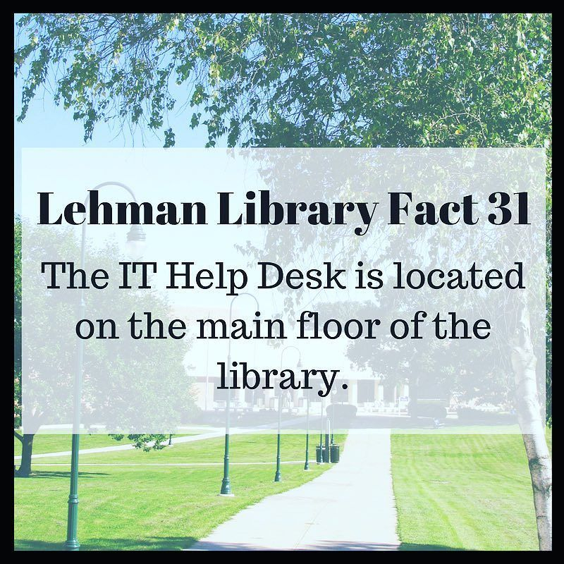 LehmanLibraryFacts Library IT ITHelpDesk