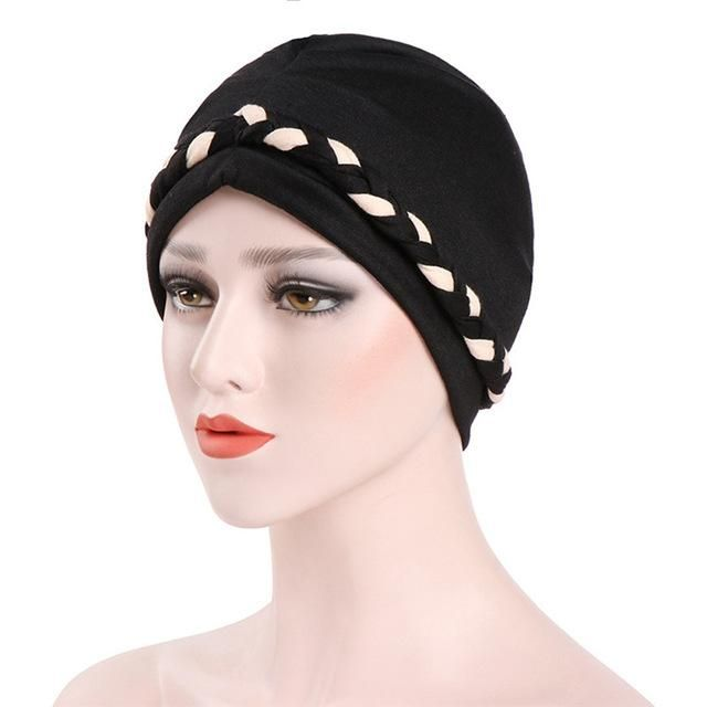 3157b2c5dee Women India Hat Muslim Ruffle Cancer Chemo Hat Cotton Blend Beanie Scarf  Turban Head Wrap Fitted Cap  A23