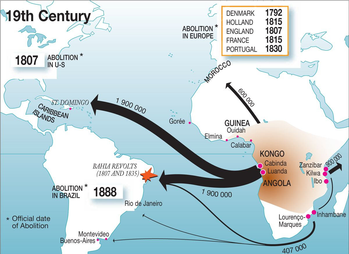 World Map Slave Trade 18001900 Bantu Maps Pinterest