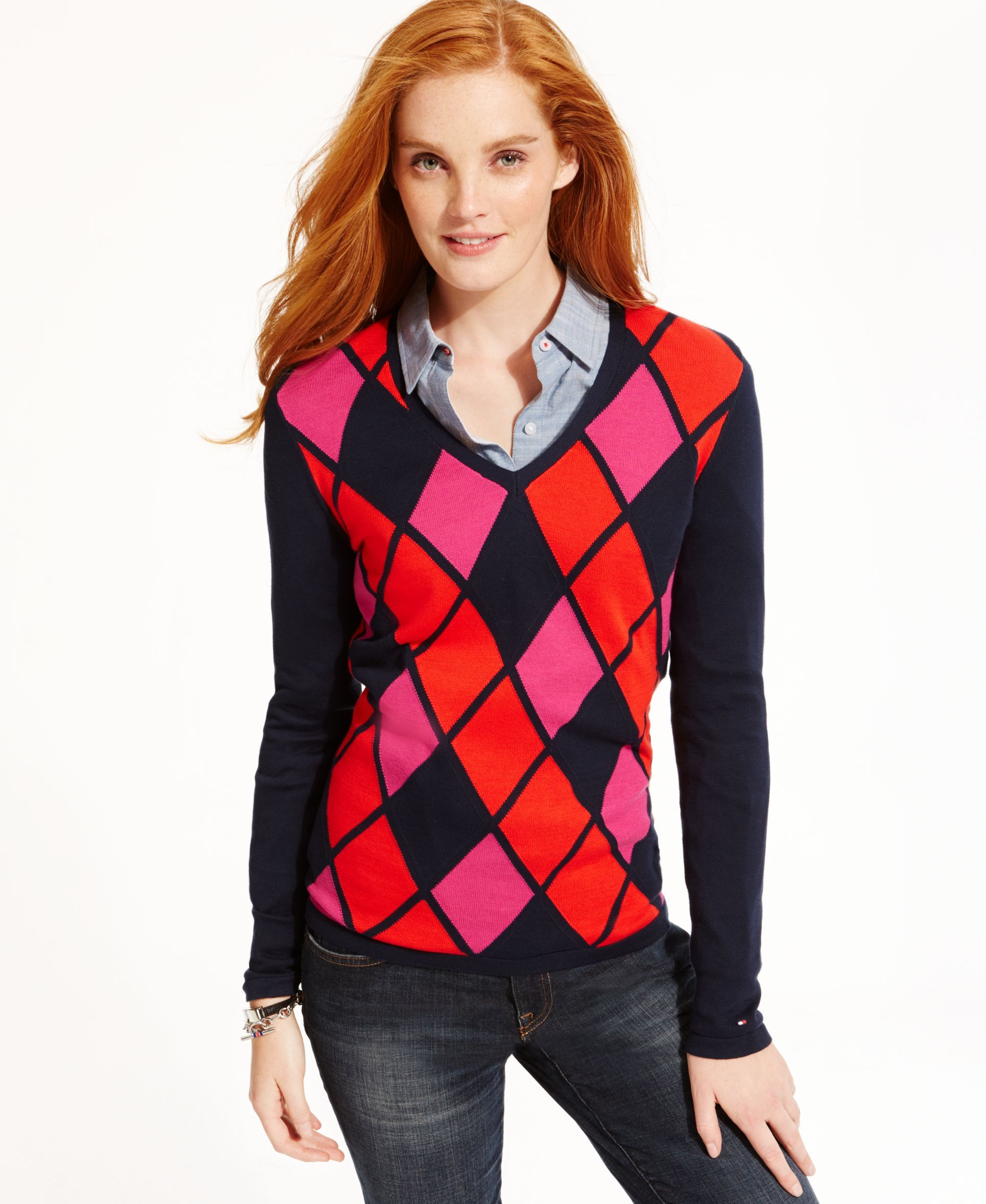 Tommy Hilfiger Argyle Sweater | Products | Pinterest | Shops ...