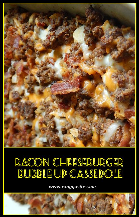 Bacon cheeseburger bubble up casserole #hamburgermeatrecipes