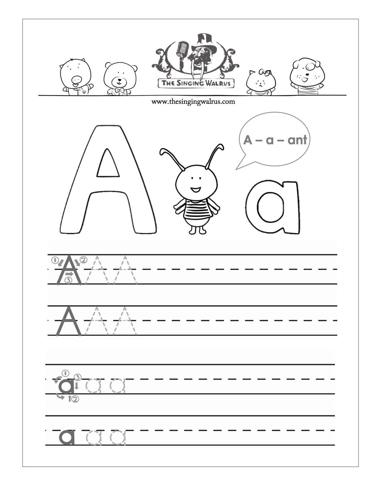 Letter Sheets For Preschool In