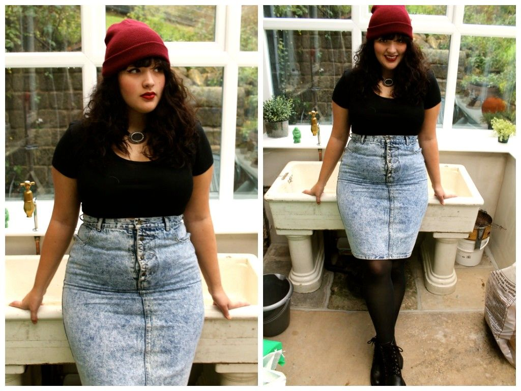 4b519e849b 4 Trends for Plus-Size Ladies. Women S Fashion Chain Crossword. '90s trend  to bring back: the denim skirt. '
