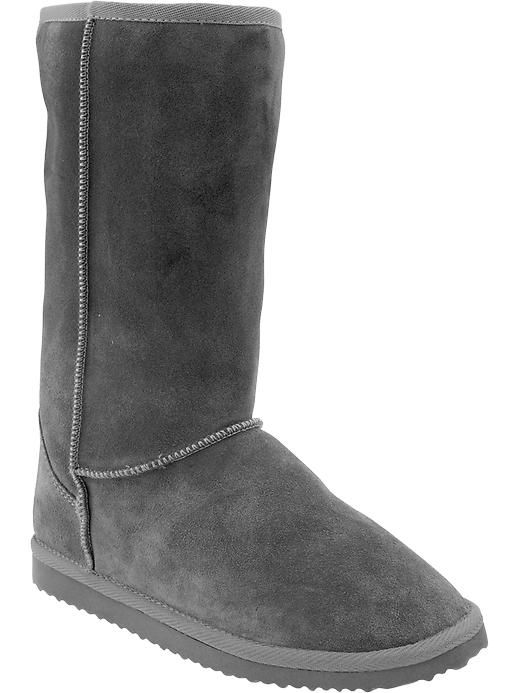 61c50b4b461 Old Navy | Women's Cozy Suede-Sherpa Boots- Light Brown, Grey, Black ...