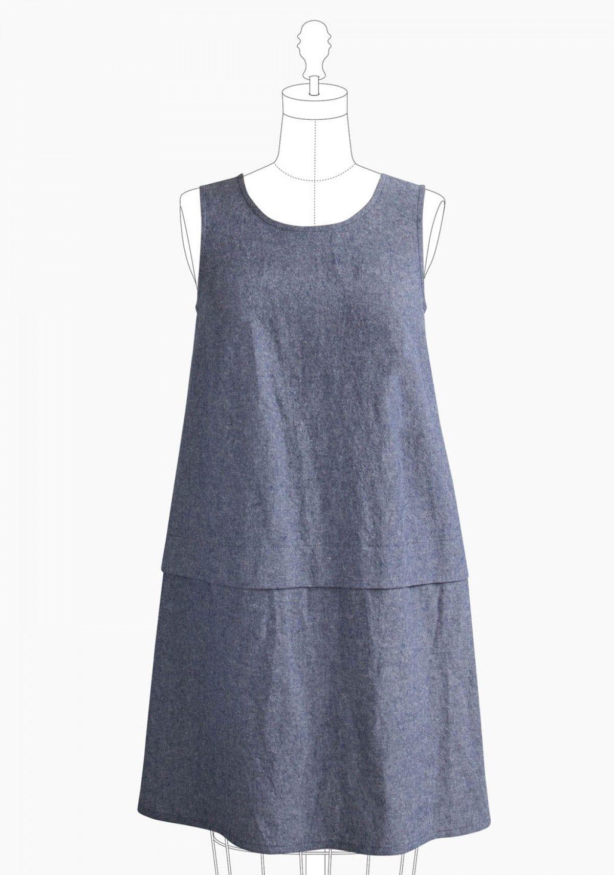 Grainline Studio Willow Tank Dress Pattern   Nähanleitung und Nähen