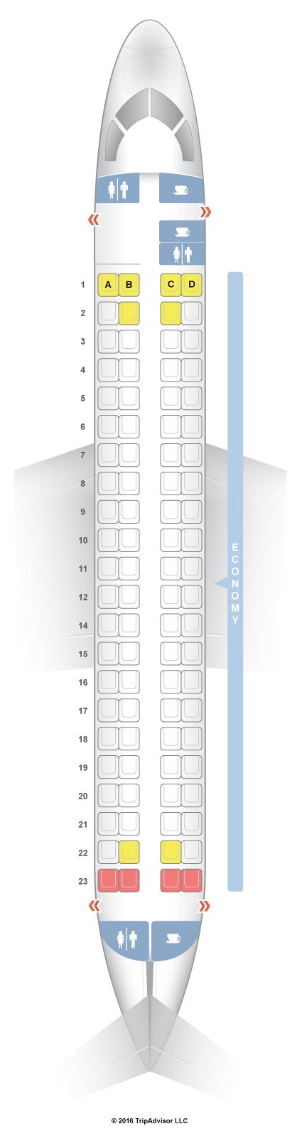 SeatGuru Seat Map FlyBE Embraer 175 (E75) SeatGuru