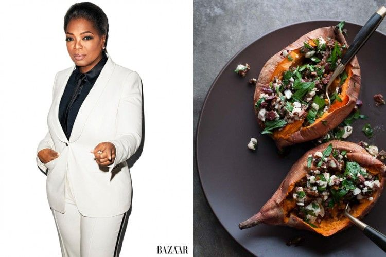 """Birthday Babe: Oprah Winfrey. """"My idea of heaven is a great big baked potato and someone to share it with."""""""