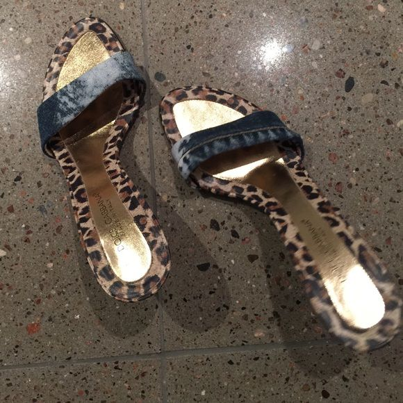 Dolce & Gabbana High heeled Sandals Gorgeous funky leopard and jean high healed sandals from Dolce & Gabbana - 100% authentic size 38 Dolce & Gabbana Shoes Heels