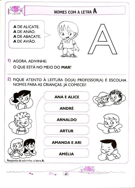 Apostila De Educacao Infantil Letramento Lingua Portuguesa De 5 E