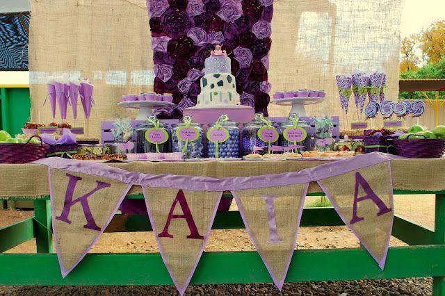 Kara's Party Ideas | Kids Birthday Party Themes: Purple Farm Birthday Party