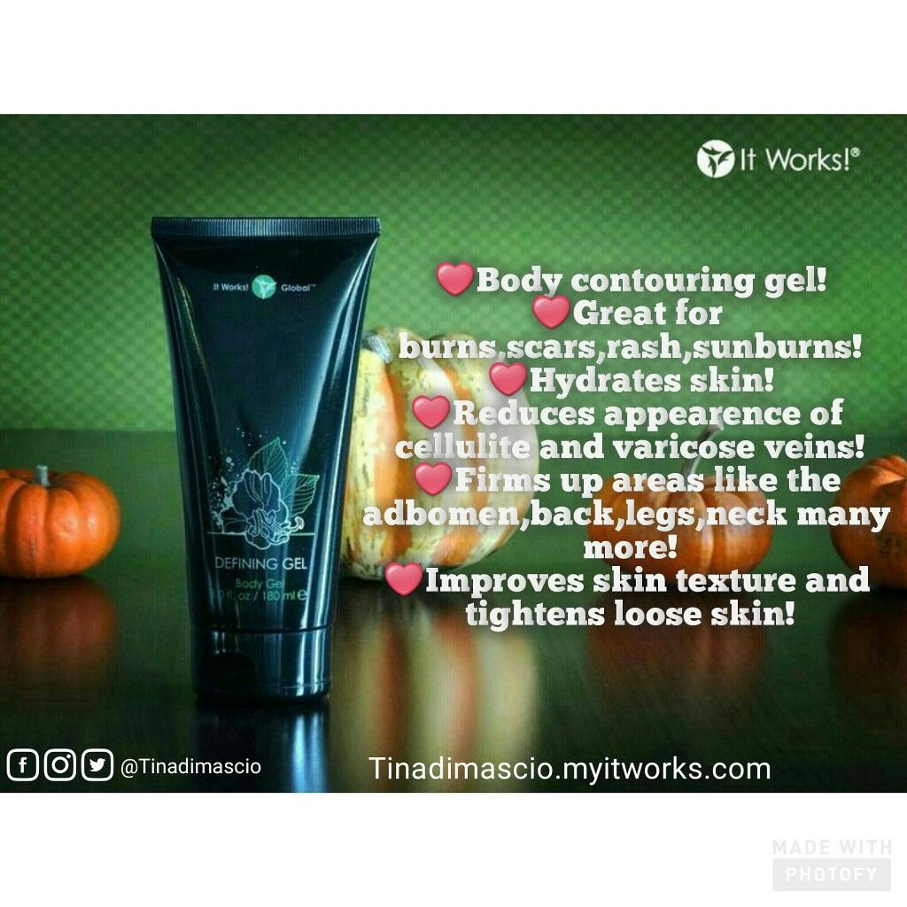 """🙌 Defining gel🙌 🌟I'm can't believe how much this bottle can do! Want more hacks on this product? 👥 add me on Facebook! 👥 ✉send me a message for my 4⃣0⃣ % discount! 📱 text """"gel"""" to 905.706.6821📱 Visit 💁 Tinadimascio.myitworks. com #momlife #boymom #postpregnancy #scars #wrinkles #tightens #firmsbutt #love #acnescars"""