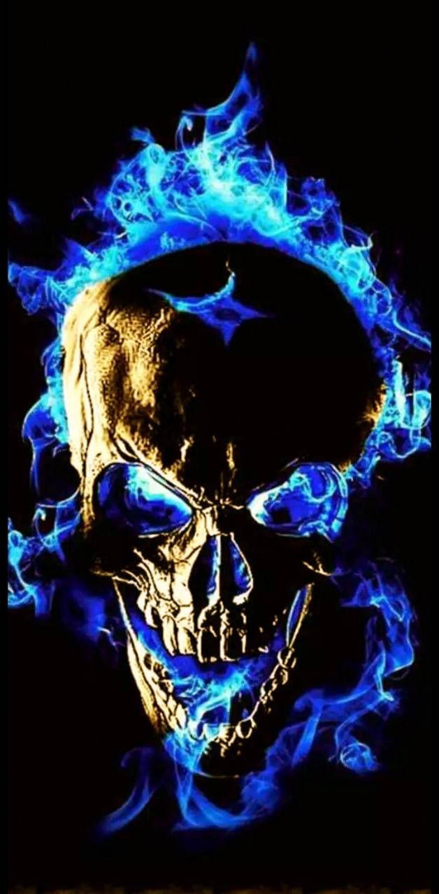 Blue skull wallpaper by becki27 - db - Free on ZEDGE™