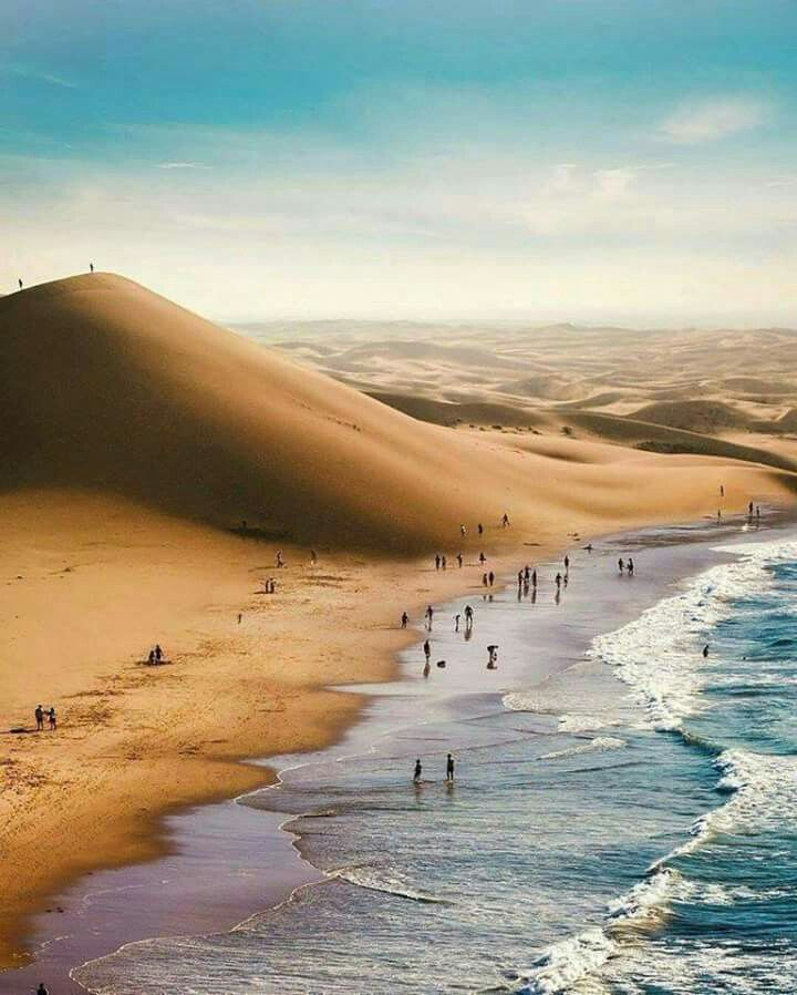 Where the desert meets the sea