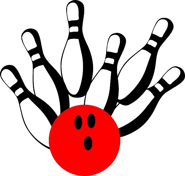 Free Image On Pixabay Bowling Pins Ball Red Strike Bowling Pins Fun Bowling Bowling