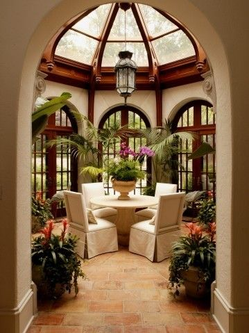 Atrium style breakfast nook sunrooms solariums and for Sunroom breakfast nook