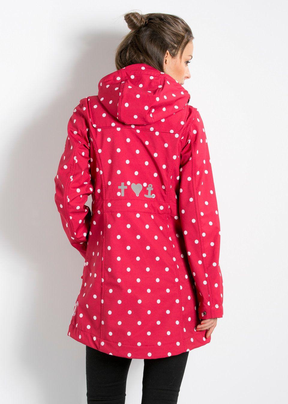 Damen Mantel Softshell Jacke Wild Weather Long BLUTSGESCHWISTER