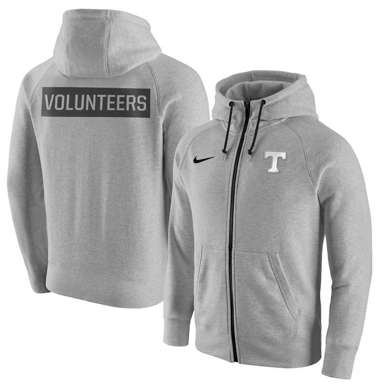 Tennessee Volunteers Nike Gridiron Gray 2.0 Fleece Full-Zip Hoodie - Heathered  Gray