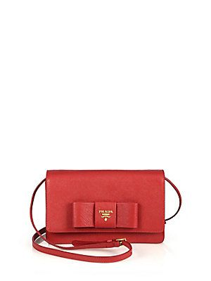 3205ba0c8dbc15 Prada Saffiano Lux Bow Crossbody Bag | Stylish at 50+ | Bags ...